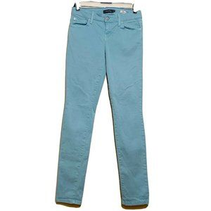 Level 99 Lily Teal Skinny Straight Jeans Size 26